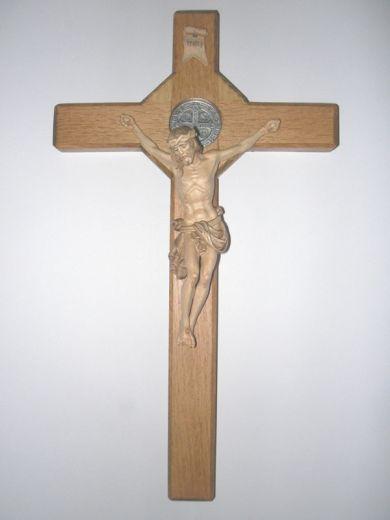 St. Bendedikt-Segenskreuz aus Holz
