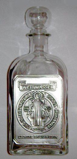Benediktus-Weihwasserflasche mit Glasstöpsel