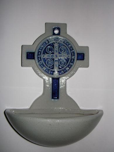Benediktus-Weihwassergefäß  blau